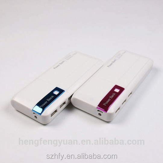 Shenzhen Free Sample Power Supply 3usb Power Bank 15000mAh with Led Indicator