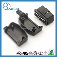 obd case and plug for diagnostic plastic housing obd2 enclosure