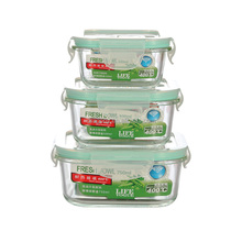 Rectangular/Circular Glass Lunch Box Microwave Oven Safe Heat Resistant Borosilicate Glass Food Container