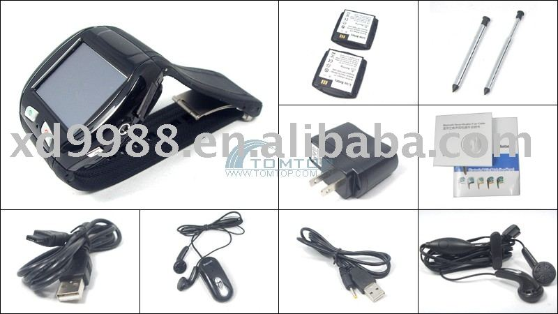 Q007 China watch phone with quad-band and dual sim