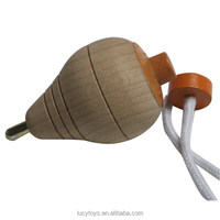 classic toy traditional wooden spinning top toy