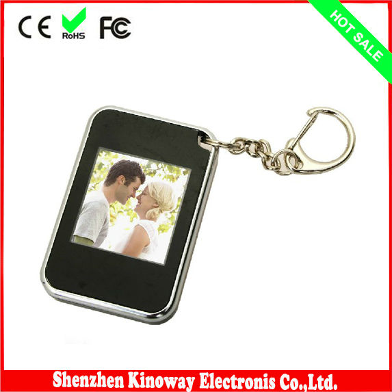 "1.5"" digital photo frame with keyring"