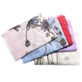 Inner Mongolia manufacturers design beautifully printed scarves Ms. SCR0124 fine thin twill pure cashmere shawls