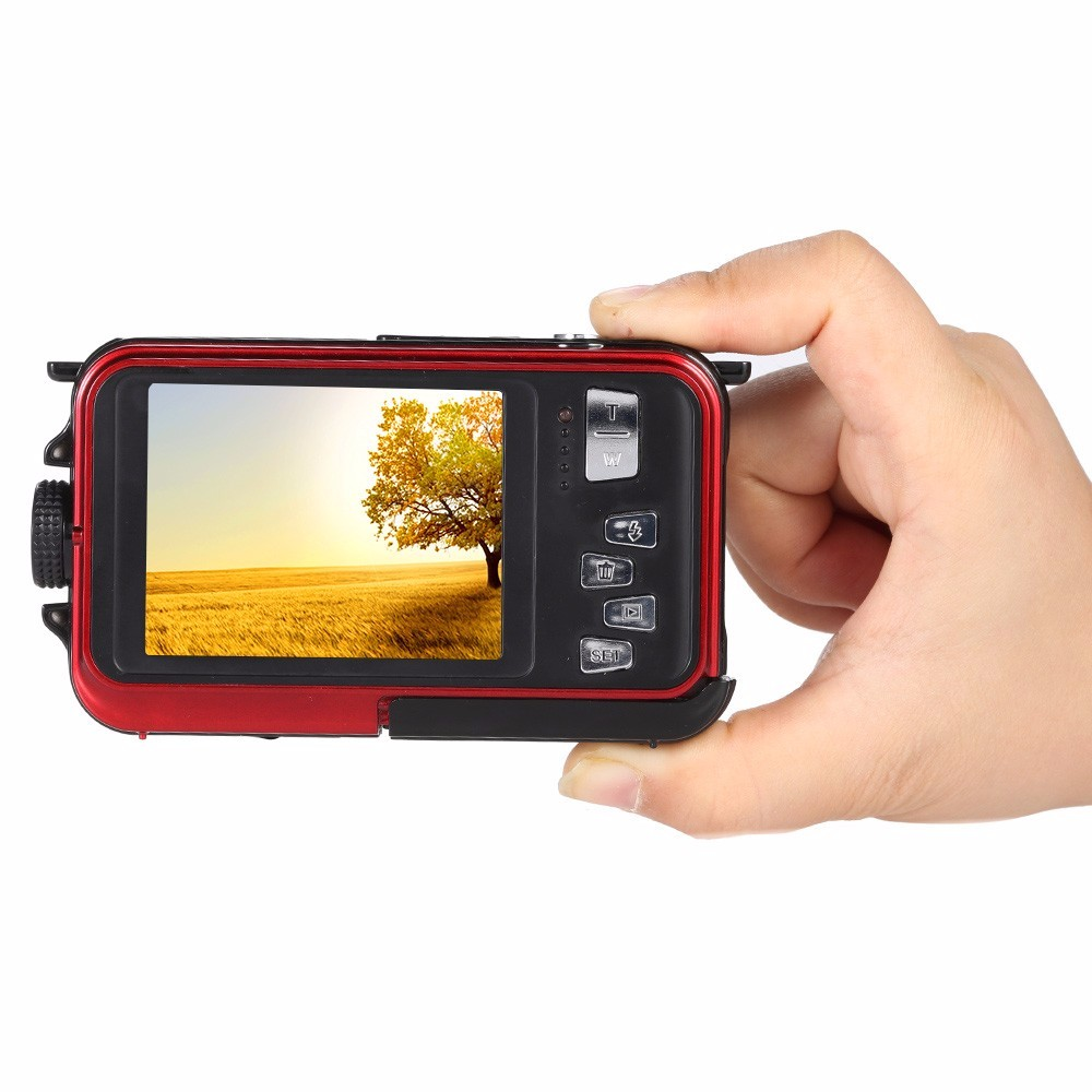 winait 24mp/20mp dual display waterproof camera digital with double screen