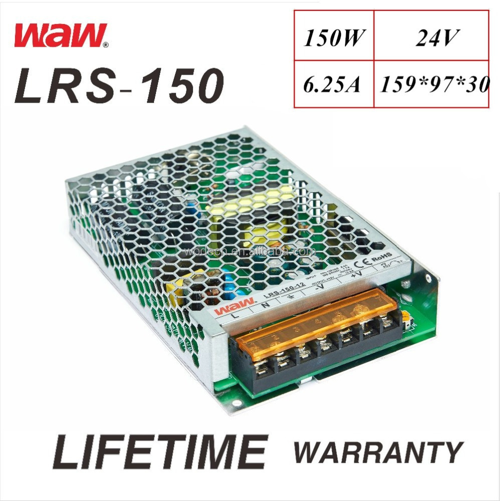 LRS-150 24V 150W slim size 110V/220V wide voltage AC/DC Switching Power Supply CCTV system LED strip 3D printer CE ROHS smps