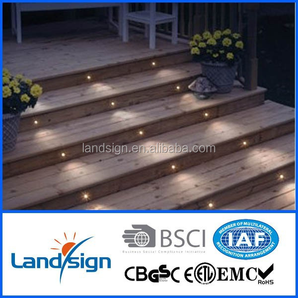 Cixi landsign High quality waterproof IP65 stainless steel led stair light/ led deck light /boat dock lighting LED