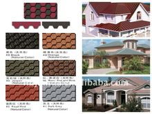 Colored asphalt shingle and waterproof roofing tile