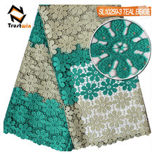 New design fashion african cord lace for garment embroidered fabric