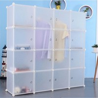DIY plastic 16 cubes wardrobe cabinet wide wardrobe designs on sale (FH-AL0050-16 )
