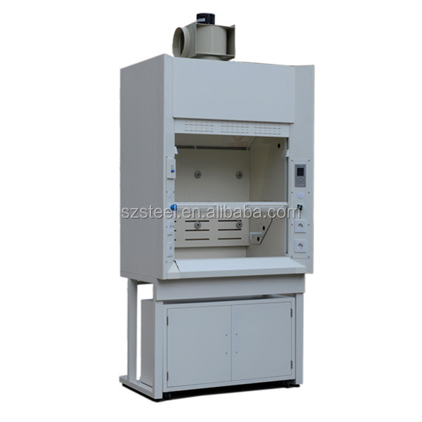 Full Steel Safe Laboratory Duct Fume Hood With PP Sink,lab cabinet/desk