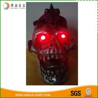 Decorative Resin Halloween Skeletor With LED light