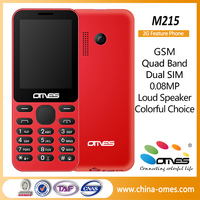 2016 New Arrival M215 Dual Sim Cheap Price 2G GSM 2.4 inch simple phone