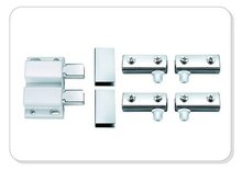 White double door magnetic catch/two rollers catch for door