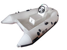 9.8ft 3m fiberglass hull rib boat with CE rigid hull inflatable boat with outboard motor fishing boat