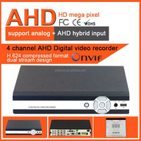 H.264 ONVIF AHD 4CH digital video recorder real time network DVR