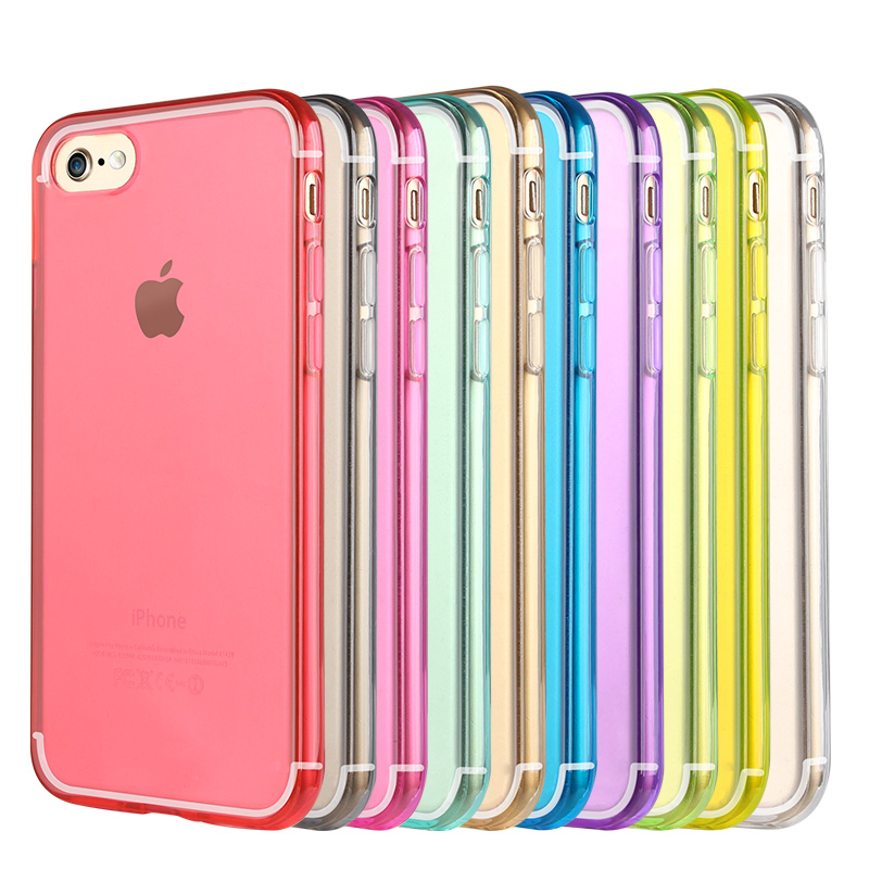 For iphone 6 case Soft TPU silicone + PC phone accessory for iphone 6 case, mobile phone case 10 colors in stock