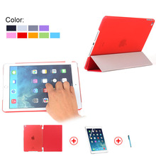 China Wholesale PU Leather with PC backside Smart Cover for iPad Mini 4 With Screen Protector, For iPad Mini 4 Smart Cover