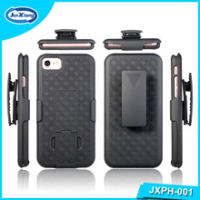Factory price wholesale hard PC belt clip shell holster combo cell phone skin cases cover with kickstand for iphone 7