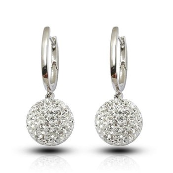 Beautiful Long Drop Earrings In Ball Shape