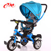2015 china hot New design kid tricycle with canopy /lexus tricycle for children with trailer/baby triking with Air pump wheel