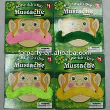 MUS-0505 Ireland party fake mustache Saint Patrick's Day Mustache