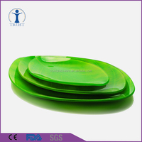 Wholesale Hotel Supply Square Green Glass Dinner Plates