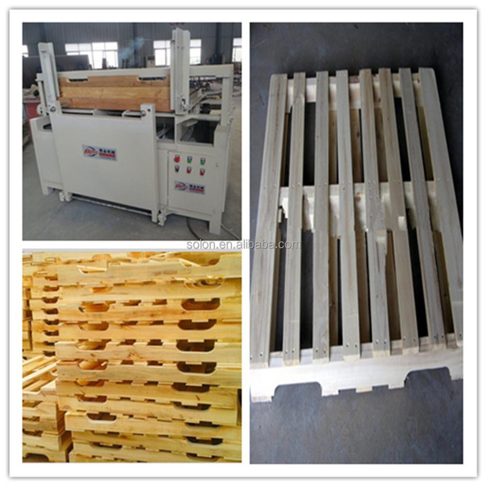 pallet cutting machine/wood pallet groove stringers notcher/wood notching machine from Renee SOLON China