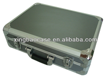 Aluminum framed briefcase laptop case with file pocket XB-BF023