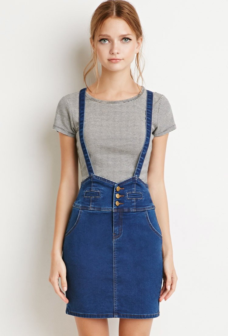 Denim Overall Skirt For Women Oem Denim Garments For Women Men ...