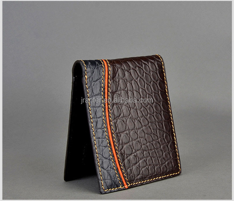 Personalized Handmade Luxury Genuine Crocodile Leather Men's Wallets