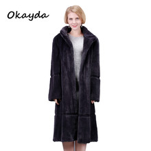 men mink fur coat real fur
