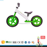 Ander 12 inch Foldable Ride On Toy Style No Pedal Kids Running Bicycle for Toddlers 2-5 years old