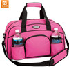 "Pink 18"" Sports Brand Duffle Bag Workout Tote Shoulder Gym Yoga Bag with Water Bottle Holder"