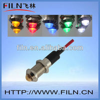 Waterproof 110v red green blue amber white colorful small signal light ship 12v fluorescent lamp stand high temp Dia 8mm