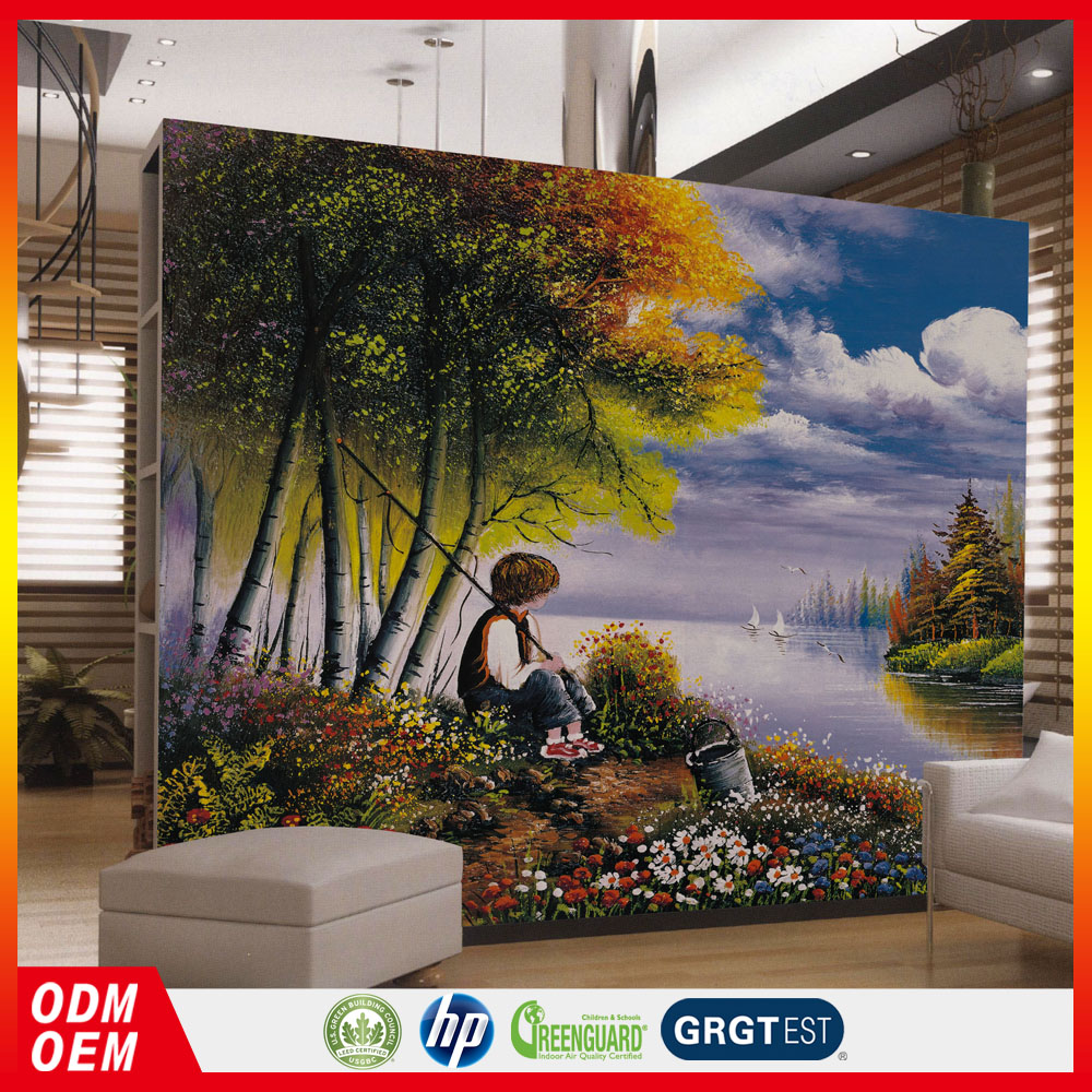 Eurpean famous painting designer murals wallpaper for kid bed room backgoud wall