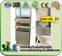 Shoe storage cabinet diy 5 layer mirror shoe rack manufacture
