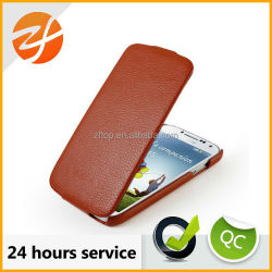 Mobile phone accessories flip leather case for Samsung galaxy s4