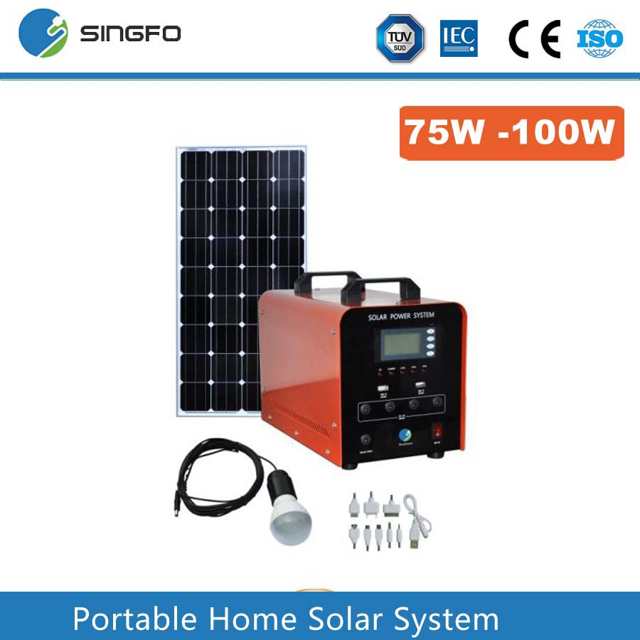 SFPS040 Portable off grid solar energy 75W 80W 85W 90W 95W Solar panel system