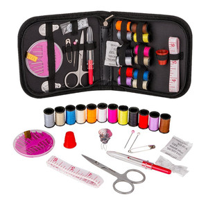 Mini Sewing Kit for Travel, Emergency, Sewing Supplies with Scissors,Thread, Needles,Carrying Case and Accessories