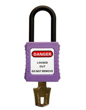 Suzhou Histay purple safety lockout padlocks used in conjunction with lockout hasp and tags