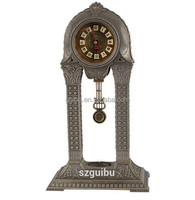 Antique Metal Pendulum Floor Standing Clock JHF14-1705