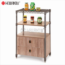 High quality cabinet wood Powder Coated carbon steel Storage kitchen Furniture