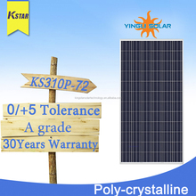 High efficiency 305w 310w 320w poly solar panel for solar system from china suppliers