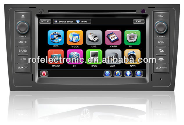 Car DVD GPS Sat Navigation for Audi A6 with GPS/RDS