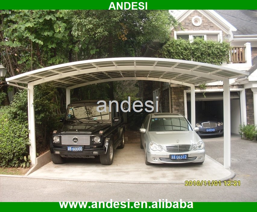 Double carport 2 car metal outdoor garage