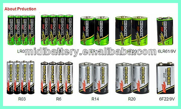 Super cell dry battery aaa LR03