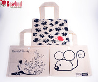 Standard size cotton custom tote bag