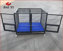 aluminum folding dog cage with wheels for sale cheap made in china