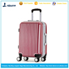 wholesale pure color PC fashional colorful travel trolley luggage bag with high quality