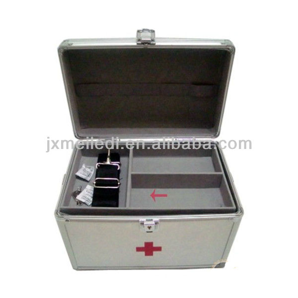 MLD-FAC66 Simple and generous aluminum frame emergency kit home first aid box